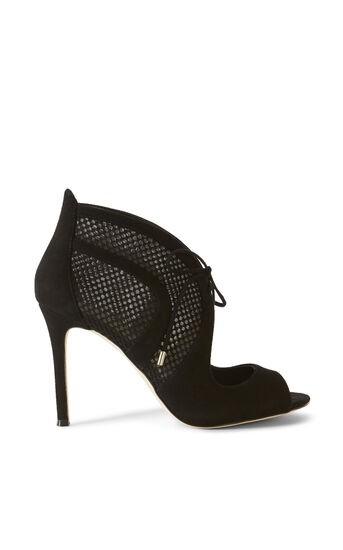 Karen Millen, MESH LACE-UP HEEL Black 0
