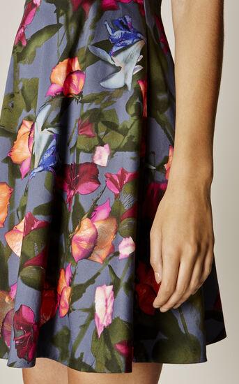 Karen Millen, STORMY ROSES DRESS Multicolour 4