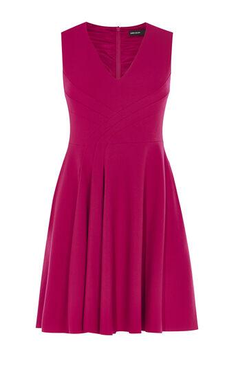 Karen Millen, FOLD-FRONT DRESS Pink 0