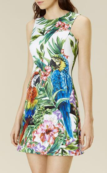 Karen Millen, BOTANICAL-PRINT SCUBA DRESS Multicolour 2