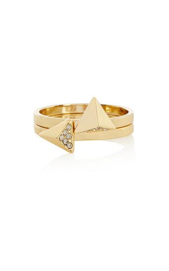 Karen Millen, Arrow ring Gold Col 0