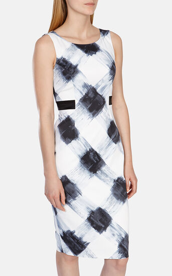Karen Millen, Art print stretch dress Blk&Wht 2