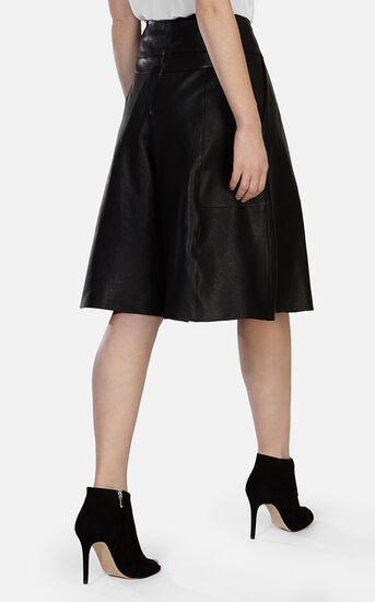 Karen Millen, Soft Leather Culotte Black 3