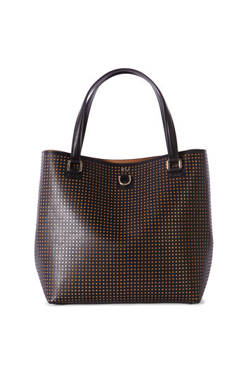 Karen Millen, PERFORATED BUCKET BAG Black 0