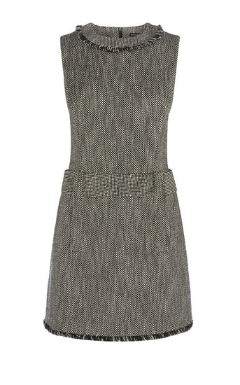 Karen Millen, TWEED DRESS Black/Multi 0