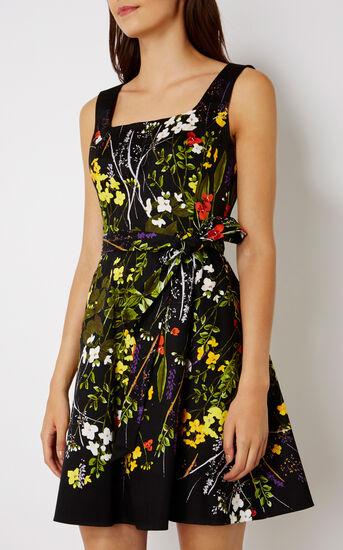 Karen Millen, FLORAL FLARED DRESS Multicolour 2