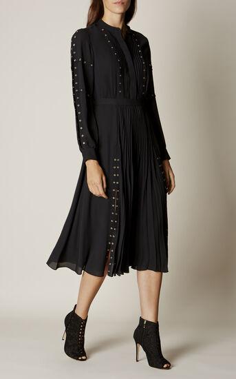 Karen Millen, STUDDED SHIRT DRESS Black 1