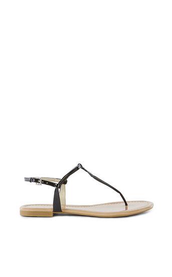 Karen Millen, Patent Flat Sandal Black 0