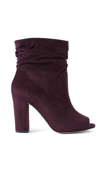 Karen Millen, SLOUCHY SUEDE BOOTS Aubergine 0