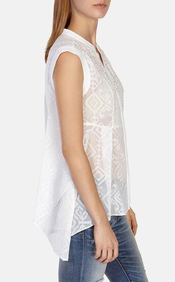 Karen Millen, Softly tailored embroidered vo White 2