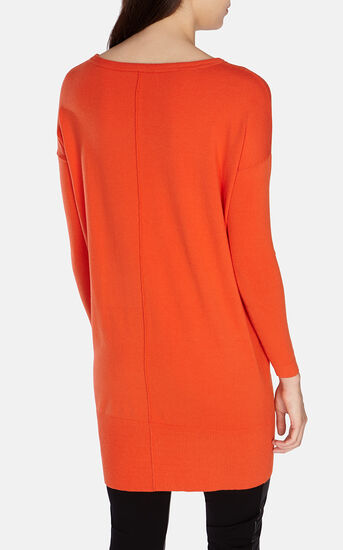 Karen Millen, KNITTED DRESS WITH POCKETS Orange 3