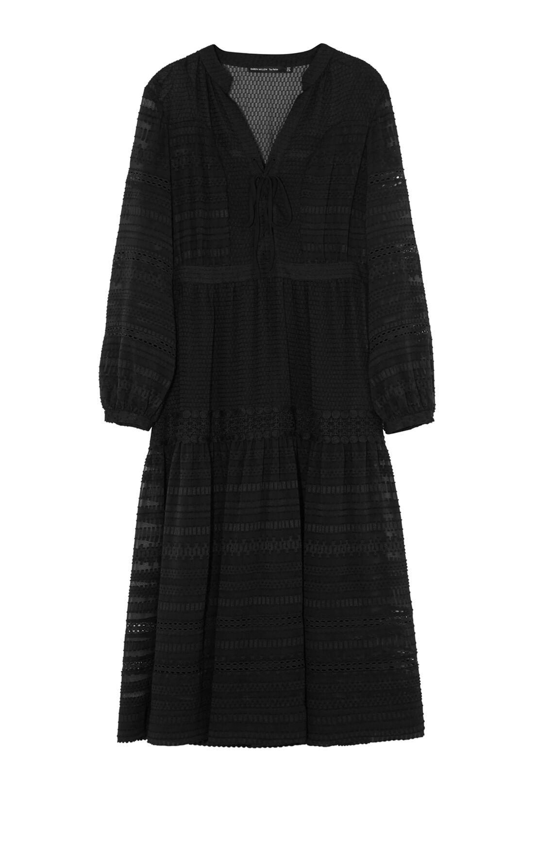Karen Millen, LACE MAXI DRESS Black 0