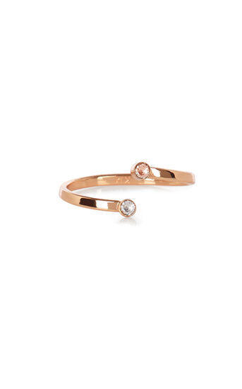 Karen Millen, Tiny dot ring Rose Gold Colour 0