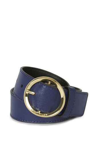 Karen Millen, ROUND-BUCKLE BELT Blue 0