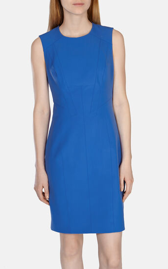 Karen Millen, TAILORED SHIFT DRESS Blue 2