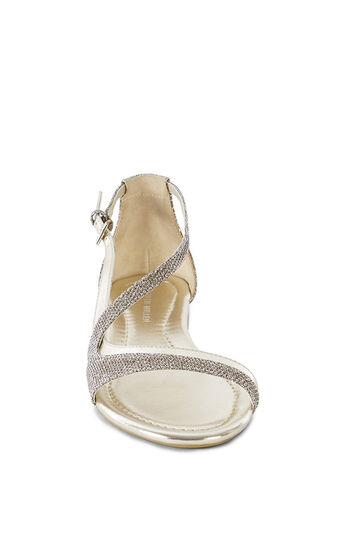 Karen Millen, GLITTER FLAT SANDAL Gold 2