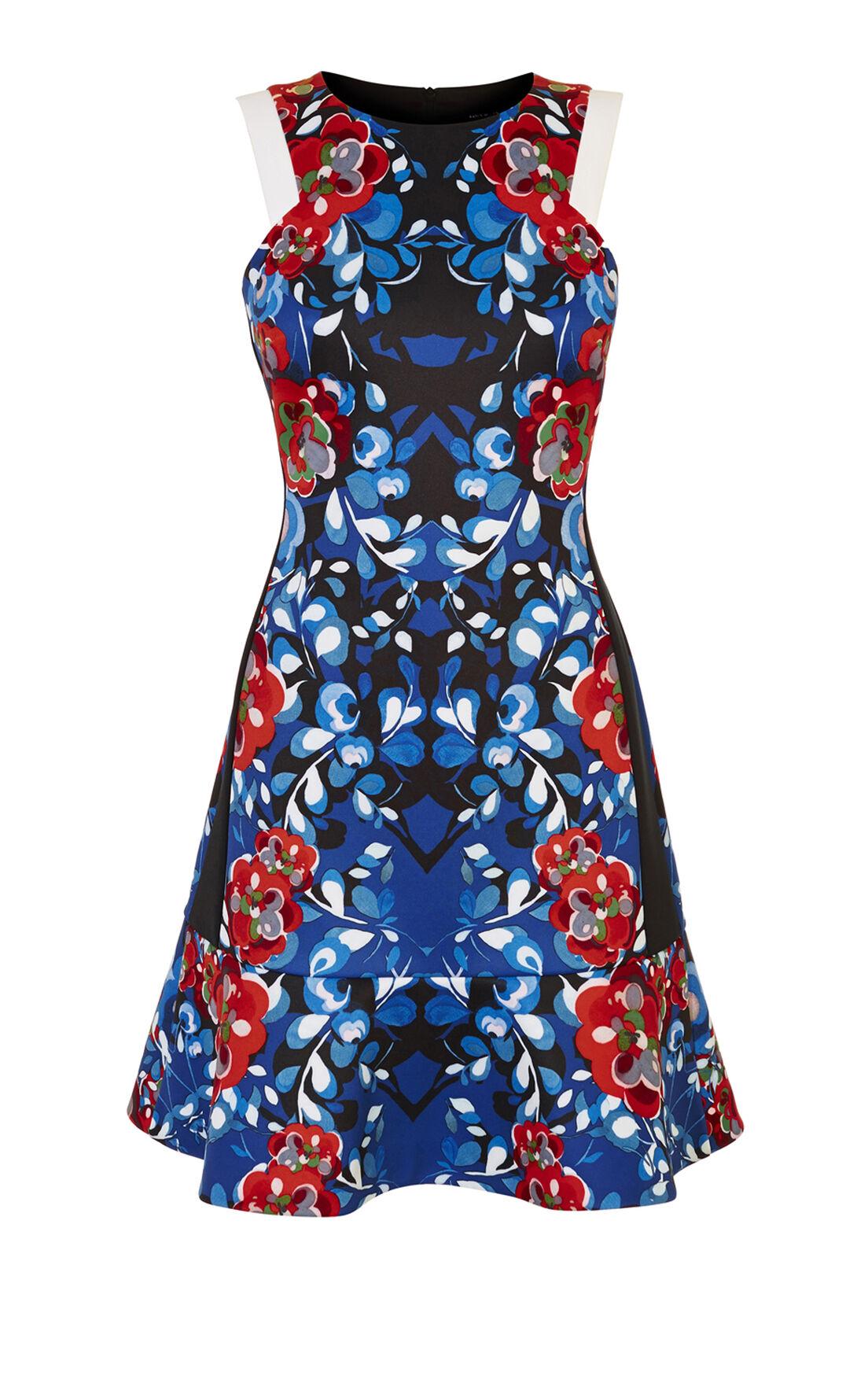 Karen Millen, FLORAL-PRINT SCUBA DRESS Multi 0