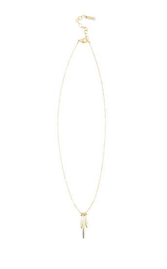Karen Millen, NECKLACE WITH 3 CRYSTAL DROP P Gold Colour 0