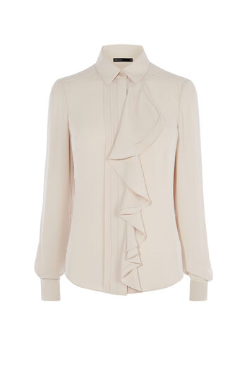 Karen Millen, RUFFLE BLOUSE Neutral 0