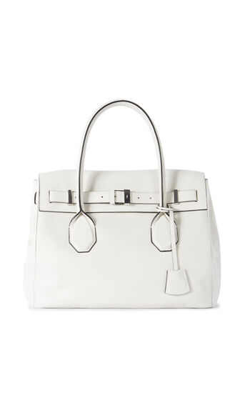 Karen Millen, FOLD-OVER LEATHER TOTE White 0