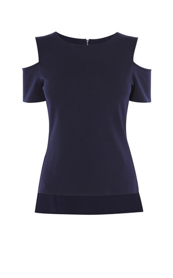 Karen Millen, ESSENTIAL JERSEY TOP Navy 0