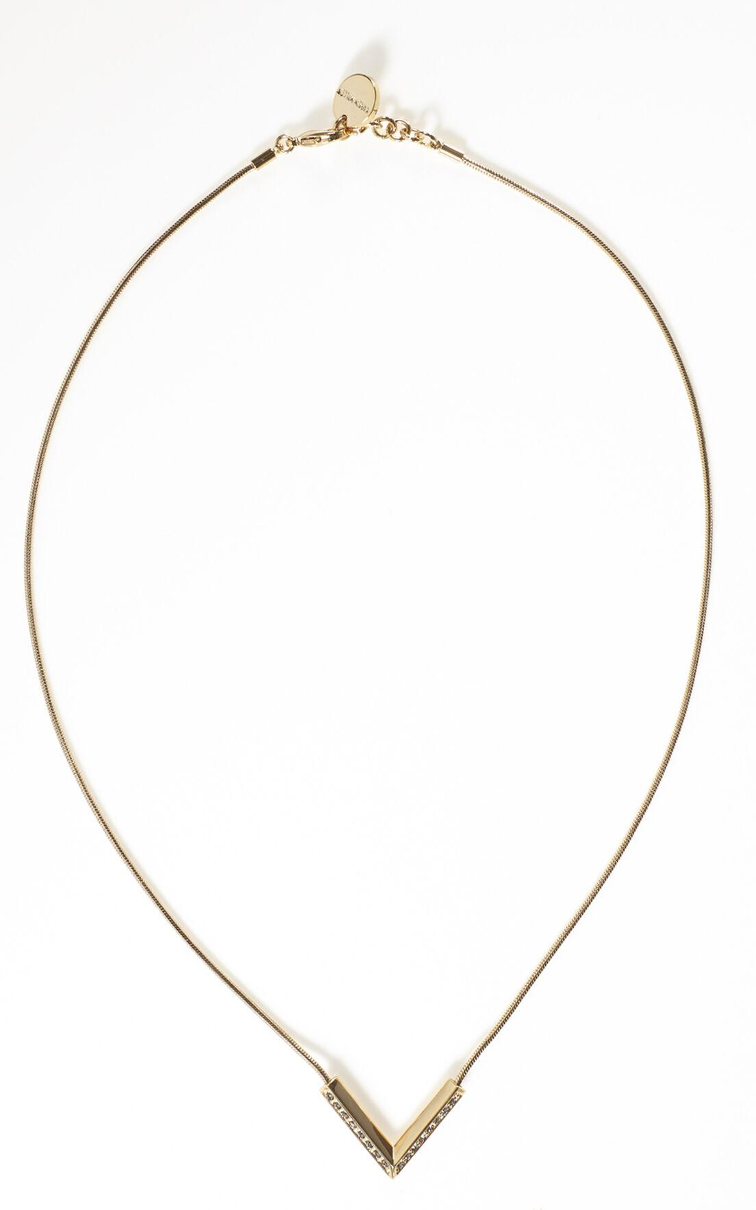 Karen Millen, Angle Crystal Necklace Gold Colour 0
