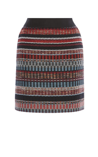 Karen Millen, ITALIAN TWEED SKIRT Multicolour 0