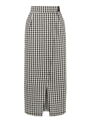 Gingham Wrap Skirt