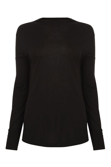 GROWN ON NECK JERSEY TOP