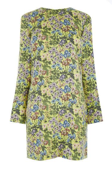GARDEN POSY SILK SHIFT DRESS