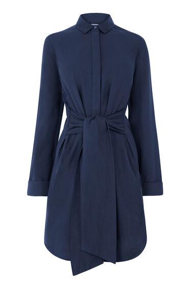 BELTED COTTON SHIRT DRESS