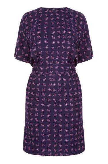 MINI PAISLEY SHIFT DRESS
