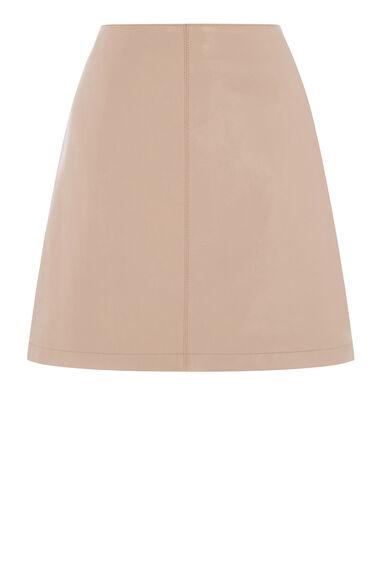 Leather Pelmet Skirt