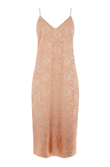 FOIL LACE STRAPPY DRESS