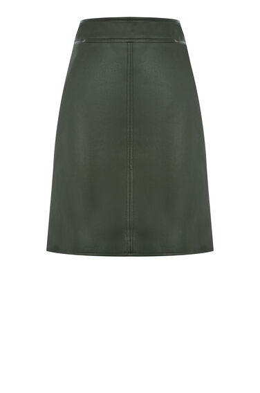 Faux Leather A Line Skirt