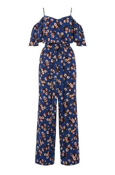 MAE FLORAL FRILL JUMPSUIT