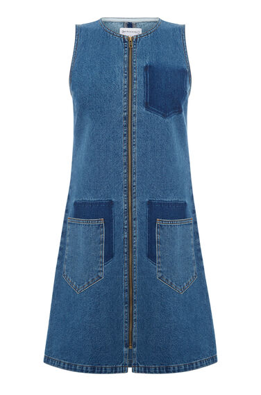 Shadow Pocket Denim Dress