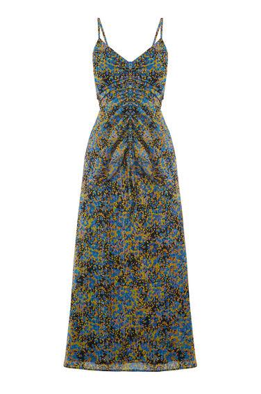 FLOWER BURST STRAP DRESS