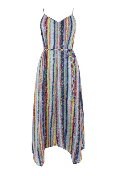 DASH STRIPE HANKY HEM DRESS