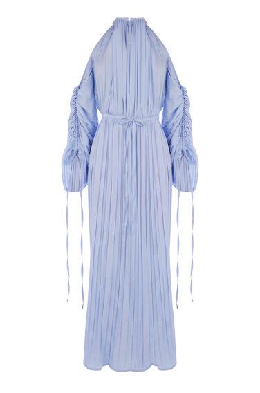CRINKLE COLD SHOULDER DRESS