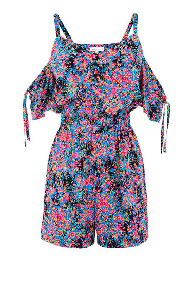 FLOWER BURST BEACH PLAYSUIT