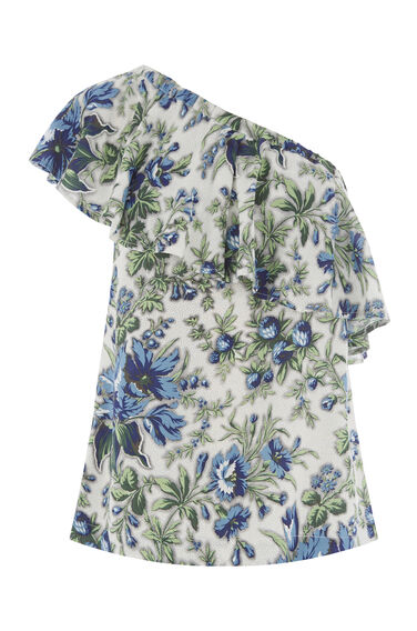 LILY PRINT ONE SHOULDER TOP