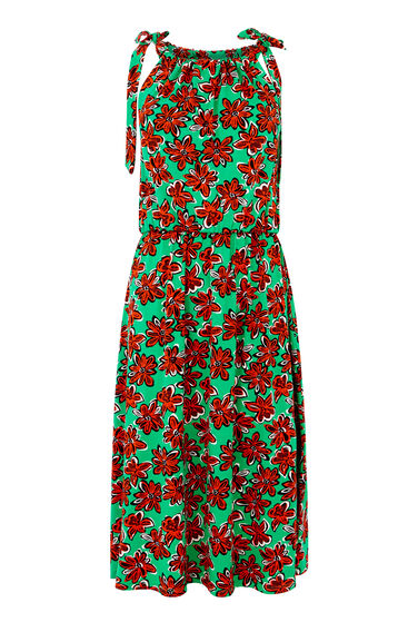 WOODBLOCK PRINT DRESS