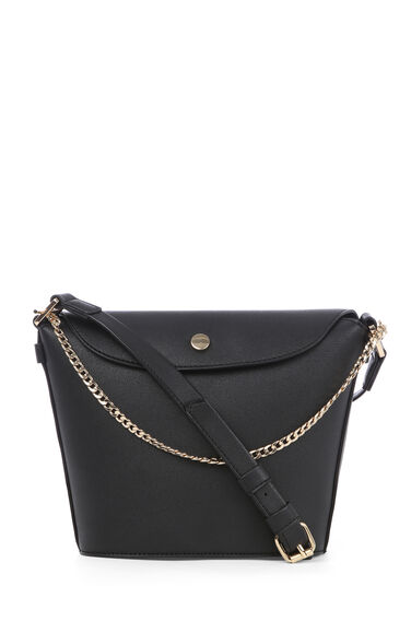 POPPER AND CHAIN BUCKET BAG
