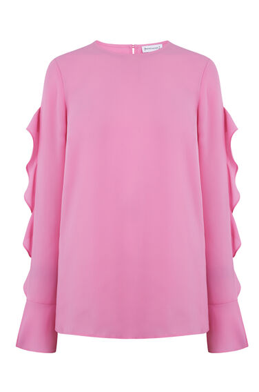 RUFFLE LONG SLEEVE TOP