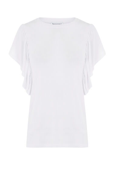 EXAGGERATED FRILL SLEEVE TEE