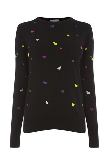 HEART EMBROIDERED JUMPER