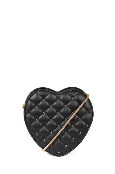 QUILTED MINI HEART BAG
