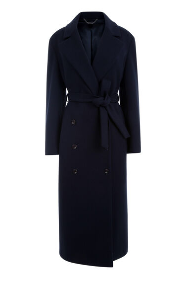 Warehouse, PREMIUM LONGLINE BELTED COAT Navy 0