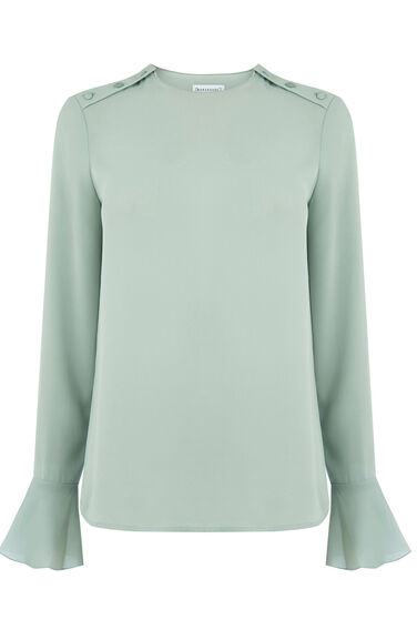 Warehouse, BUTTON SHOULDER TOP Mint 0
